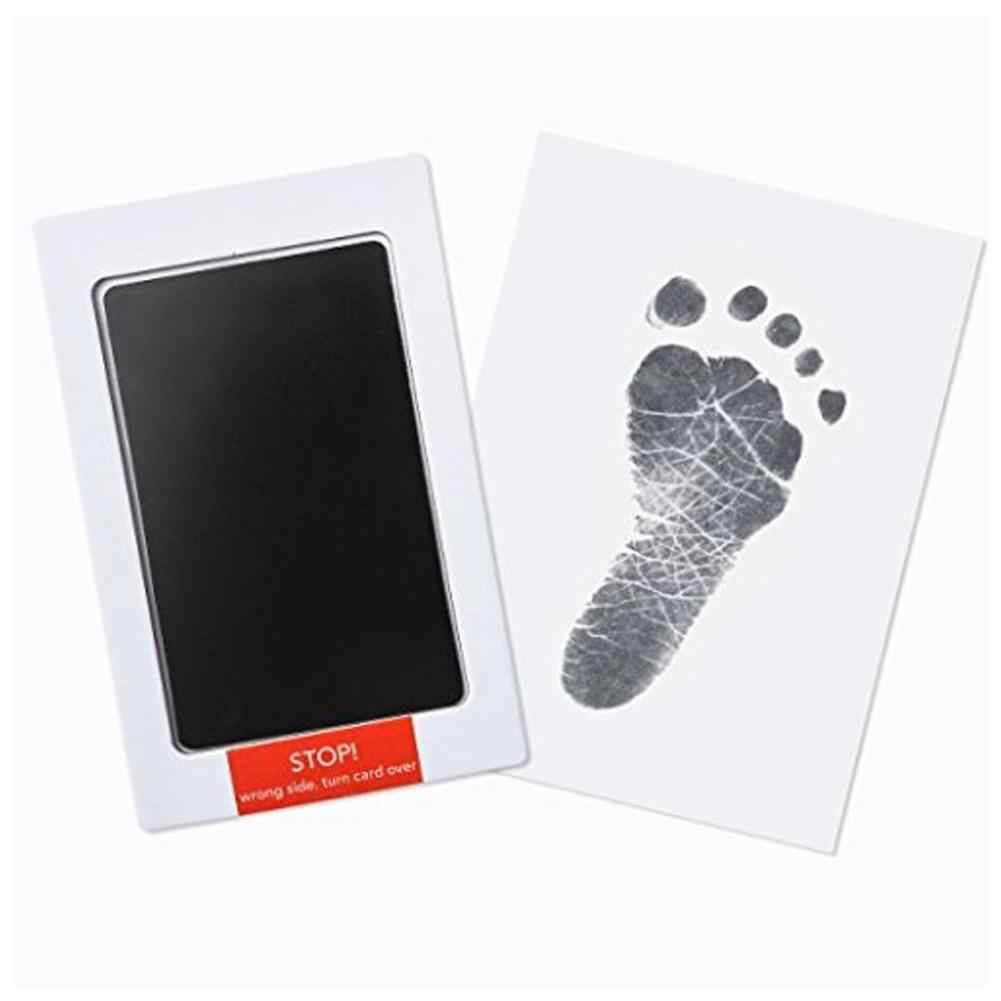2pcs Baby Care Non-Toxic Baby Handprint Footprint Imprint Kit Baby Souvenirs Casting Newborn Footprint Ink Pad Infant Clay Toy