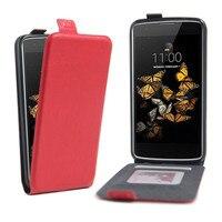 Magnetic PU Leather Crazy Horse Wallet Case For LG K8 LTE K350E K350N K350 Flip Cover