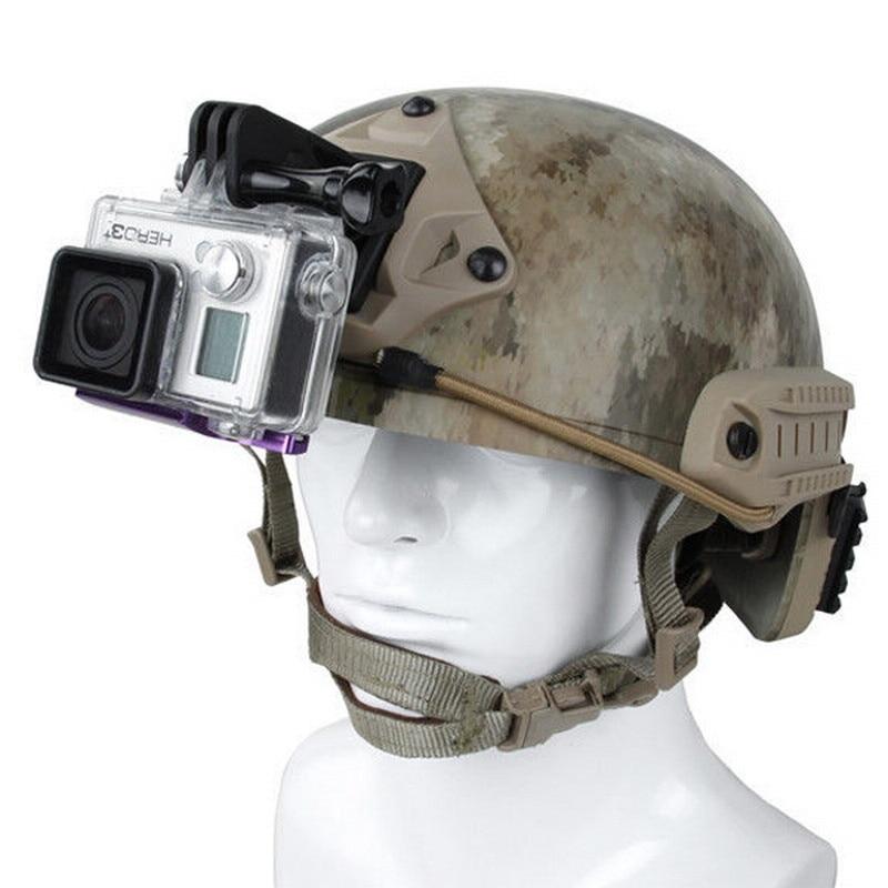 Tactical Helmet Mount for Gopro xiaoyi 4k Excavator ARM Mount NVG Helmet Base Bracket Black Tan for SJCAM - ANKUX Tech Co., Ltd