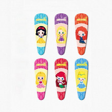 2 Pcs/Pair Cute Cartoon Snow White Princess Aurora Merida Rapunzel Ariel Cinderella Hair Pin Hair Clip for Girls Gift Toy Figure(China)