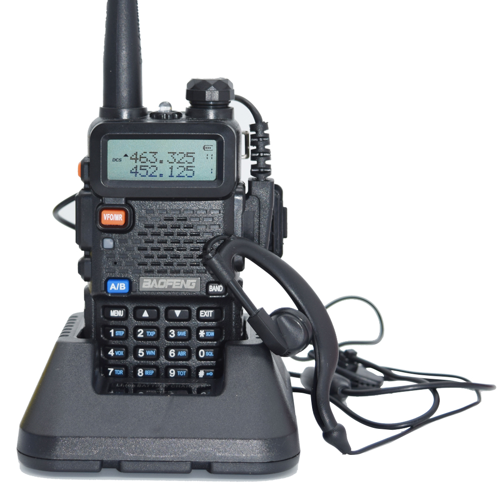 Portable Baofeng UV 5R Two Way Radio Walkie Talkie For Vhf Uhf Dual Band Ham