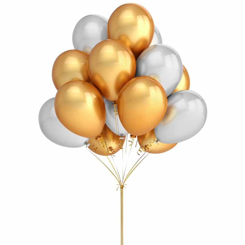 50pcs gold silver Balloon for Wedding Birthday baby shower Bachelorette Party Bridal Shower christmas new years eve Decoration