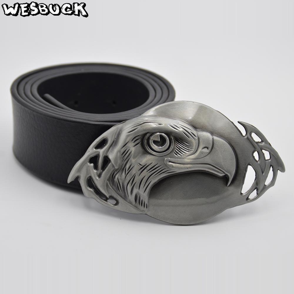 5 PCS MOQ WesBuck Brand Big Eagle Metal Belt Buckles Fashion Western Buckle Cowboys Cowgirls Cool Belt Head