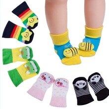 2016 Baby Toy Animal Socks Baby Foot Anti-slip Toddler Boys Girls Sock Cotton Three-dimensional Cartoon Baby Socks For 0-18month