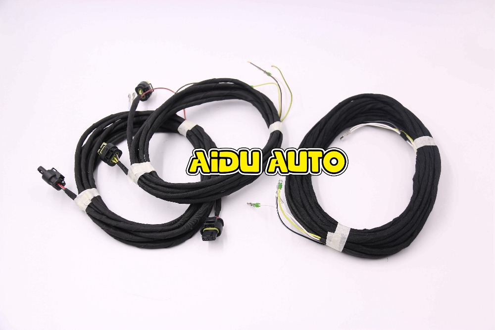 ФОТО FOR Auto PLA Intelligent Parking Assist 8K To 12K  Install harness Wire Cable  For Audi A6 C7 Q3
