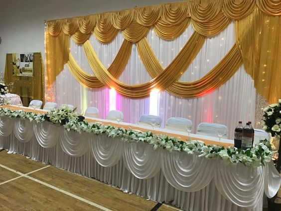 3M x 6M Gold Wedding Backdrop Stage Decoration