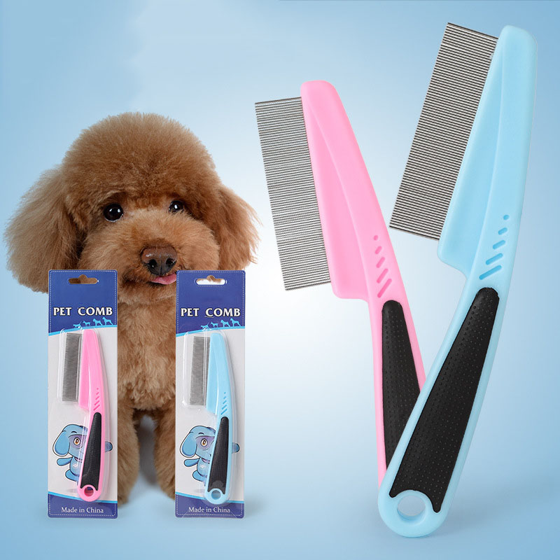 Pet Flea Comb Loose Hair & Tick Remover for Dogs Cats Small Pets Professional Grooming T ...