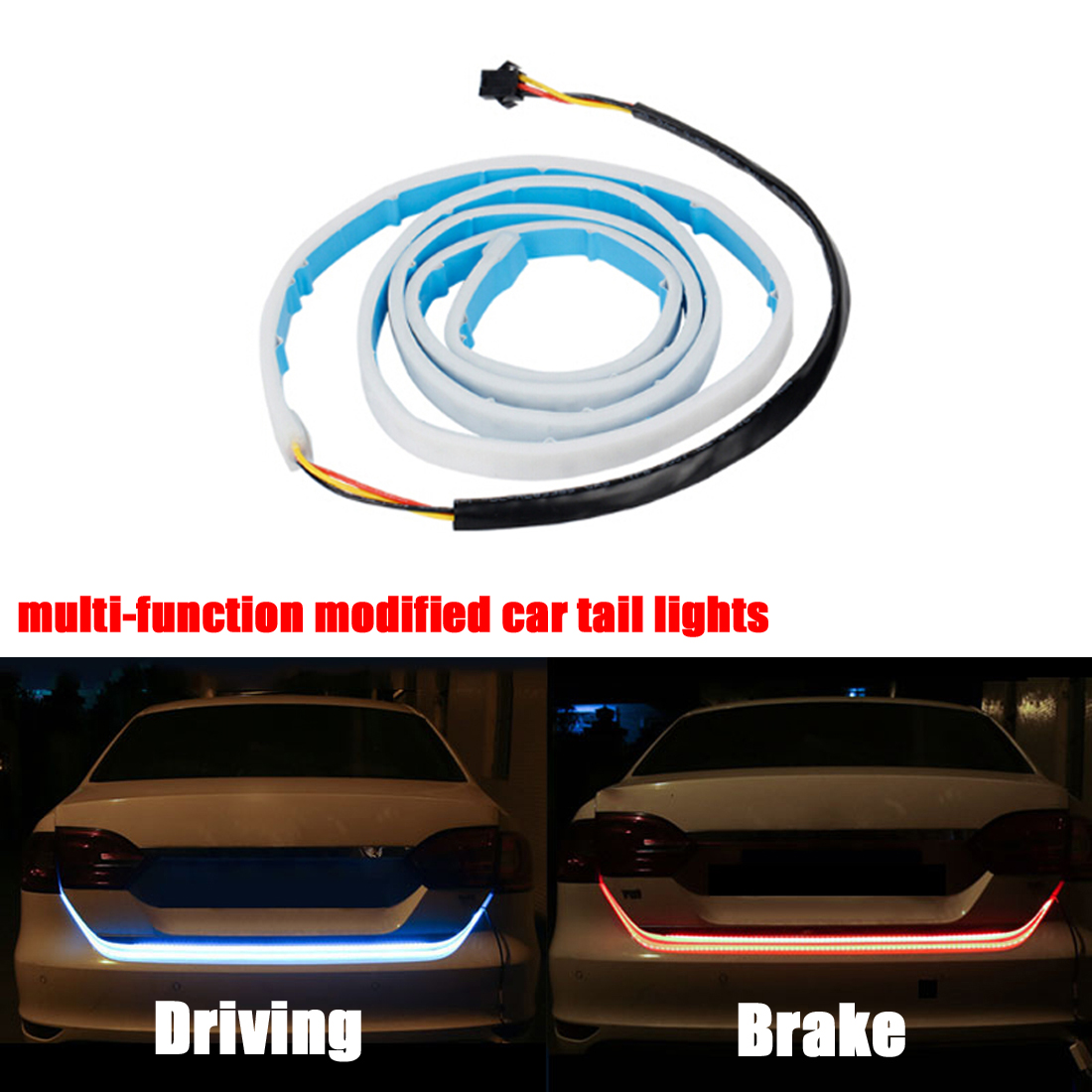 Dongzhen Waterproof Car LED 48 Trunk Van LED Strip Light Tailgate Turn Signal Reverse Backup Brake Lamp Car-styling car styling tail lights for toyota highlander 2015 led tail lamp rear trunk lamp cover drl signal brake reverse