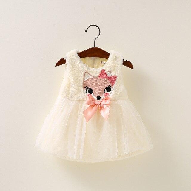 2016 новая весна и осень зима новорожденных девочек платья дети жилет платье принцессы HD1502