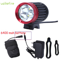 Walkefire Bicycle Bike Front Light 3 Mode XM L T6 LED Bicycle Accessories Bike Lights Lamp