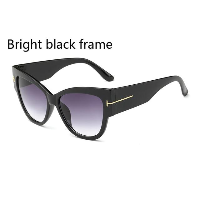 2016 New Fashion Cat Eye tf Sunglasses Women Brand Designer Vintage Luxury Street Snap Sun Glasses retro De Sol Feminino Gafas 2