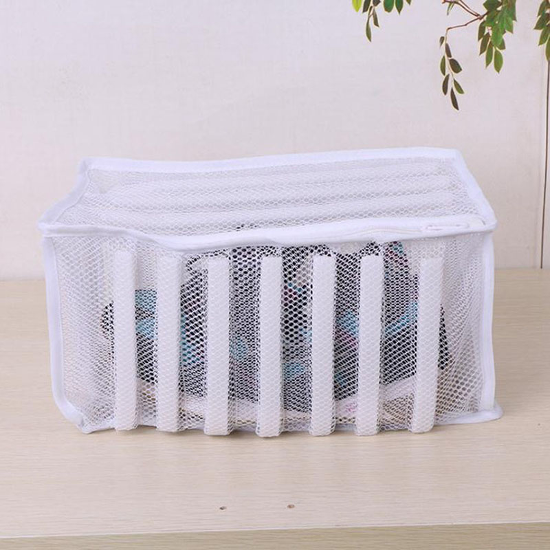 Polyester Laundry Bag Footwear Mesh Wash Bag Sneaker Washer Dryer White Shoes Clothes Washing Bag Home Storage Cleaner