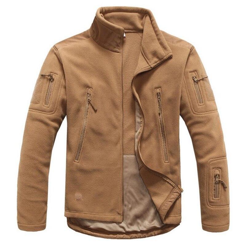 Military Tactical Fleece Jacket Men Warm Thermal Coat Polar Softshell Waterproof Multiple Pocket Jackets Male Polartec Coats
