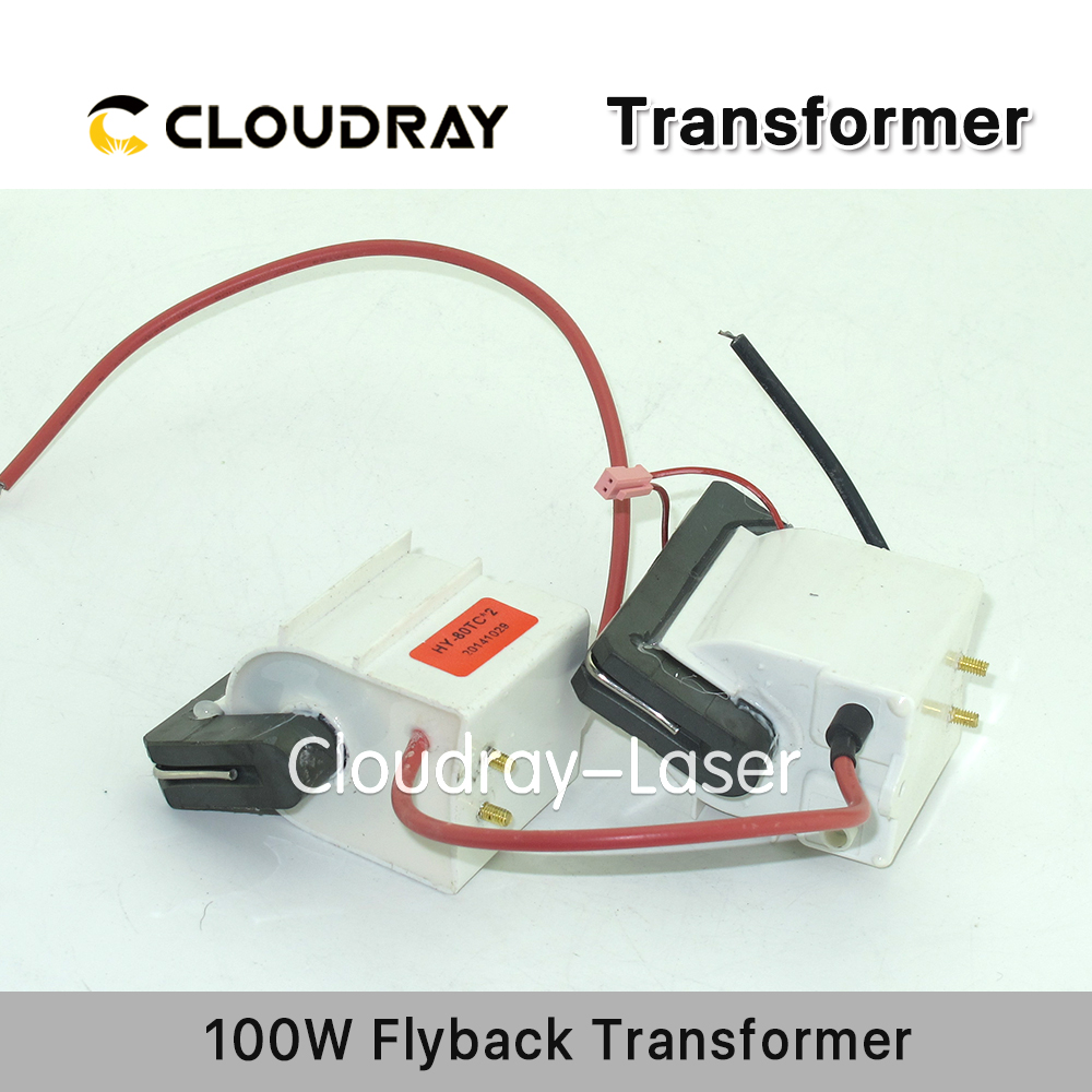 Cloudray High Voltage Flyback Transformer for CO2 100W Laser Power Supply cloudray flyback transformer 220v to 110v autotransformer transformer for 80w co2 laser power supply flyback 80