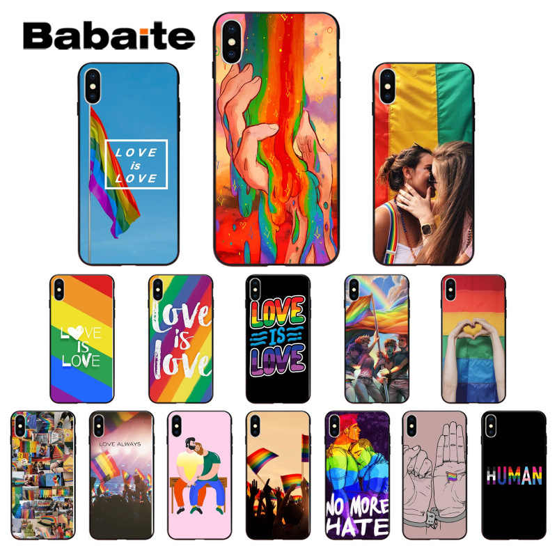 Babaite Lesbian LGBT Rainbow Gay Pride ART Customer High Quality Phone Case for iPhone 7 X 8 XS MAX 6 6S 7plus 8Plus 5 5S XR