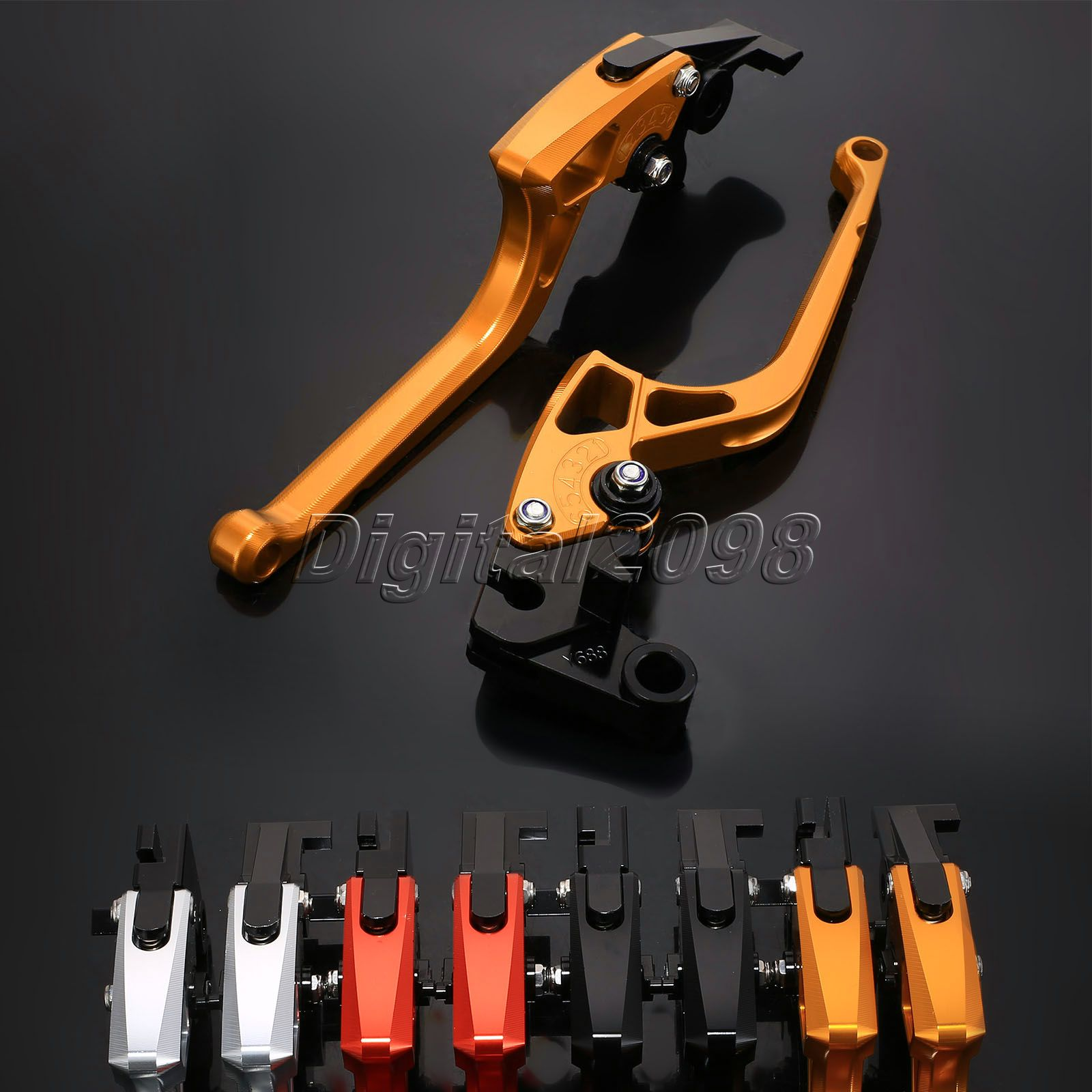 Brake Clutch Levers CNC Adjustable Levers for Honda CB400 2000 (F-16/H-626) Fully 6 Postision Motorbike Brake Motorcycle Levers