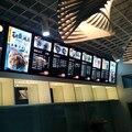 Montado Na parede de Alumínio Preto Quadro Magnético Led Iluminado Placas Do Menu para o Restaurante