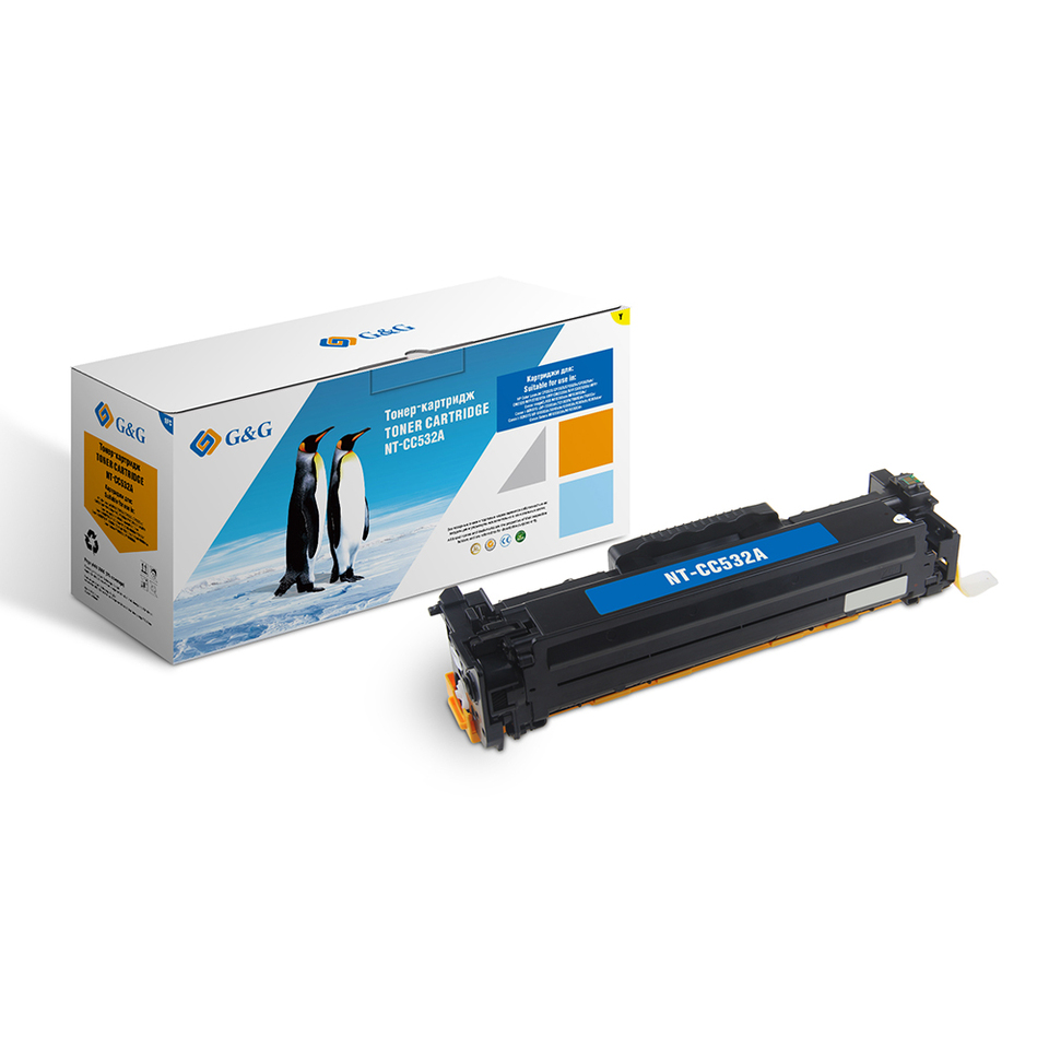 Купить со скидкой Тонер-картридж G&G NT-CC532A для HP  Color LaserJet CM2320/CP2025 Canon MF8330/8350 (2800стр)