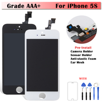 10PCS LOT AAA Quality Complete 4 Inch LCD Screen For IPhone 5G 5S 5C Display Multi