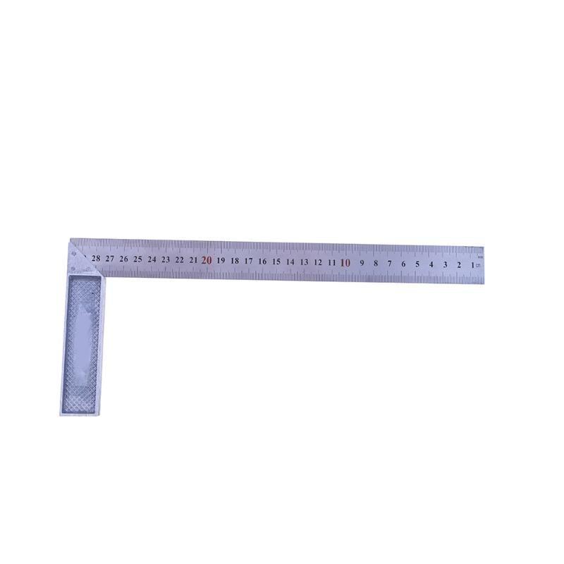 цена на 90 Degree Metal Steel Try Square 30cm/1mm Engineers Wood Measuring Tool Right Angle Ruler Try Square Measuring Tool