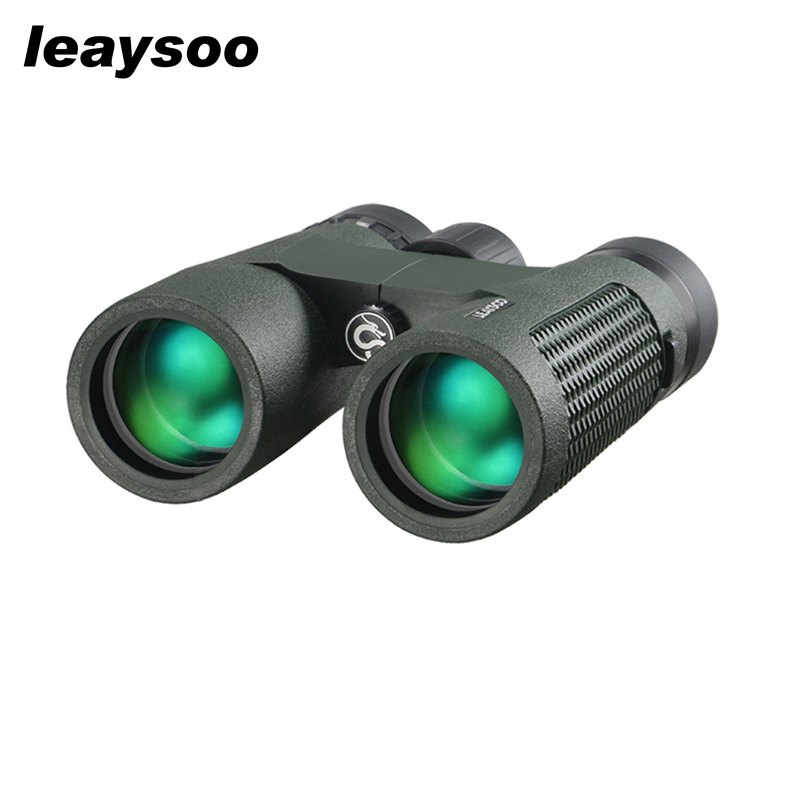 LEAYSOO 8X42 Binocular HD Nitrogen Waterproof Lll night vision Camping Hunting Telescope Optics Binocular MC Green Film
