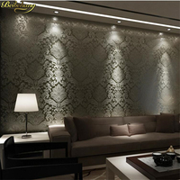 Beibehang Non Wovens European Style 3d Stereo Wallpaper Damascus Living Room Bedroom TV Background Papel De