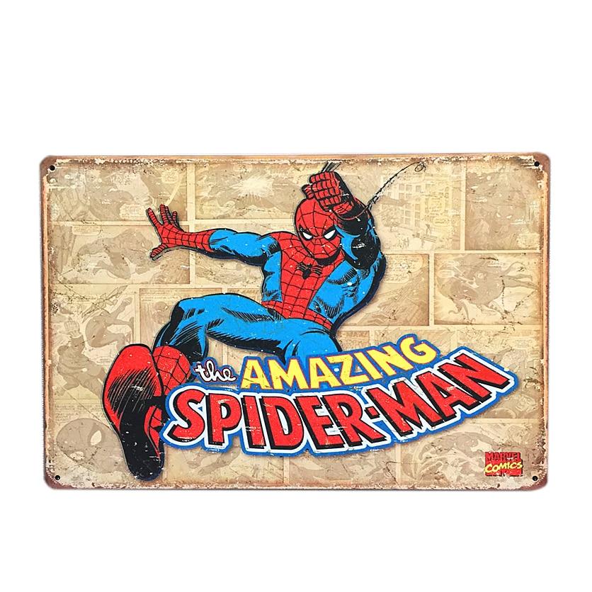 <font><b>Amazing</b></font> <font><b>Fantasy</b></font> Superhero <font><b>Spiderman</b></font> <font><b>Tin</b></font> <font><b>Sign</b></font> Bar Pub Home Wall Decor <font><b>Retro</b></font> Shabby Chic Metal Poster 30*20cm Free Shipping A397