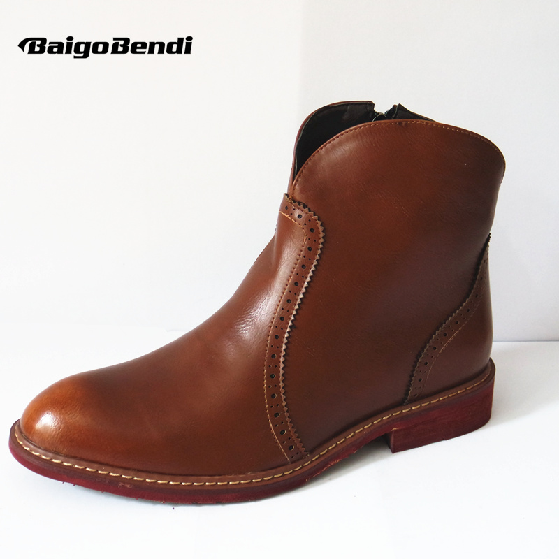 Mens Retro Leather Like Pointy Toe Formal Dress Business Oxford Brogue Wing tip Military Ankle Boots Chukka Shoes like a virgin secrets they won t teach you at business school