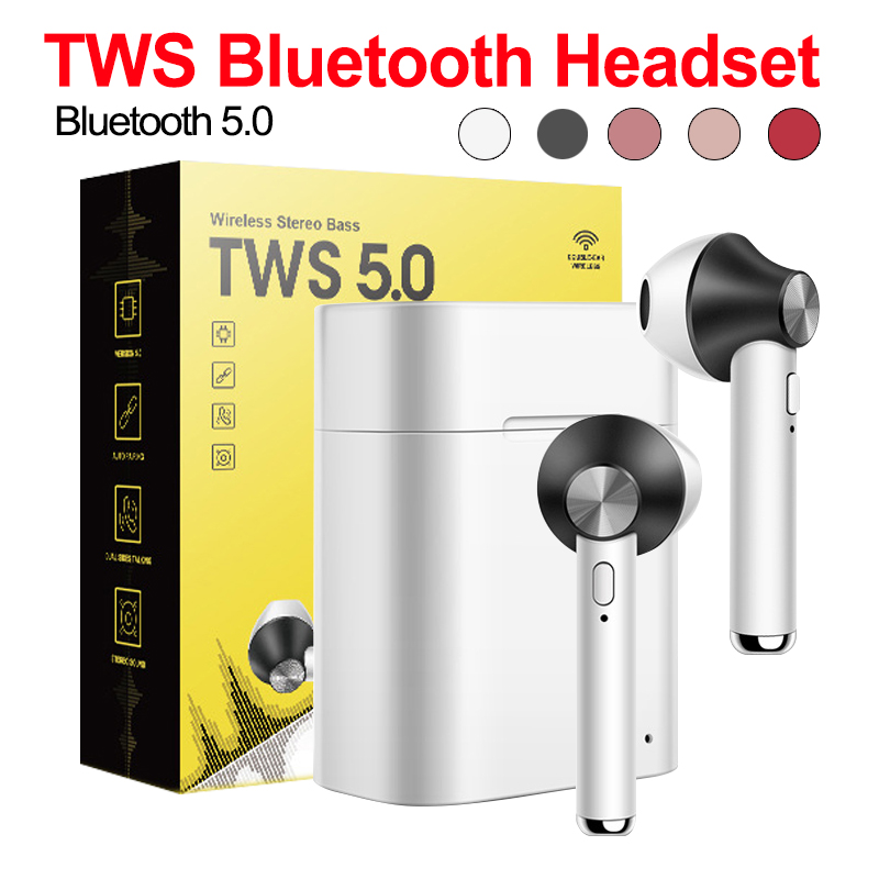 Bluetooth Earphones Wireless Bluetooth 4 2 Earbuds Touch control Earphones for IPhone Xiaomi Android Phone PK I8 I9 I7 in Bluetooth Earphones Headphones from Consumer Electronics