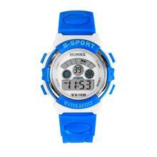 Waterproof Boys Girls Students Clock LED Digital Quartz Alarm Date Sports Wrist Watch Fashion Children Watches Colorful Aug17
