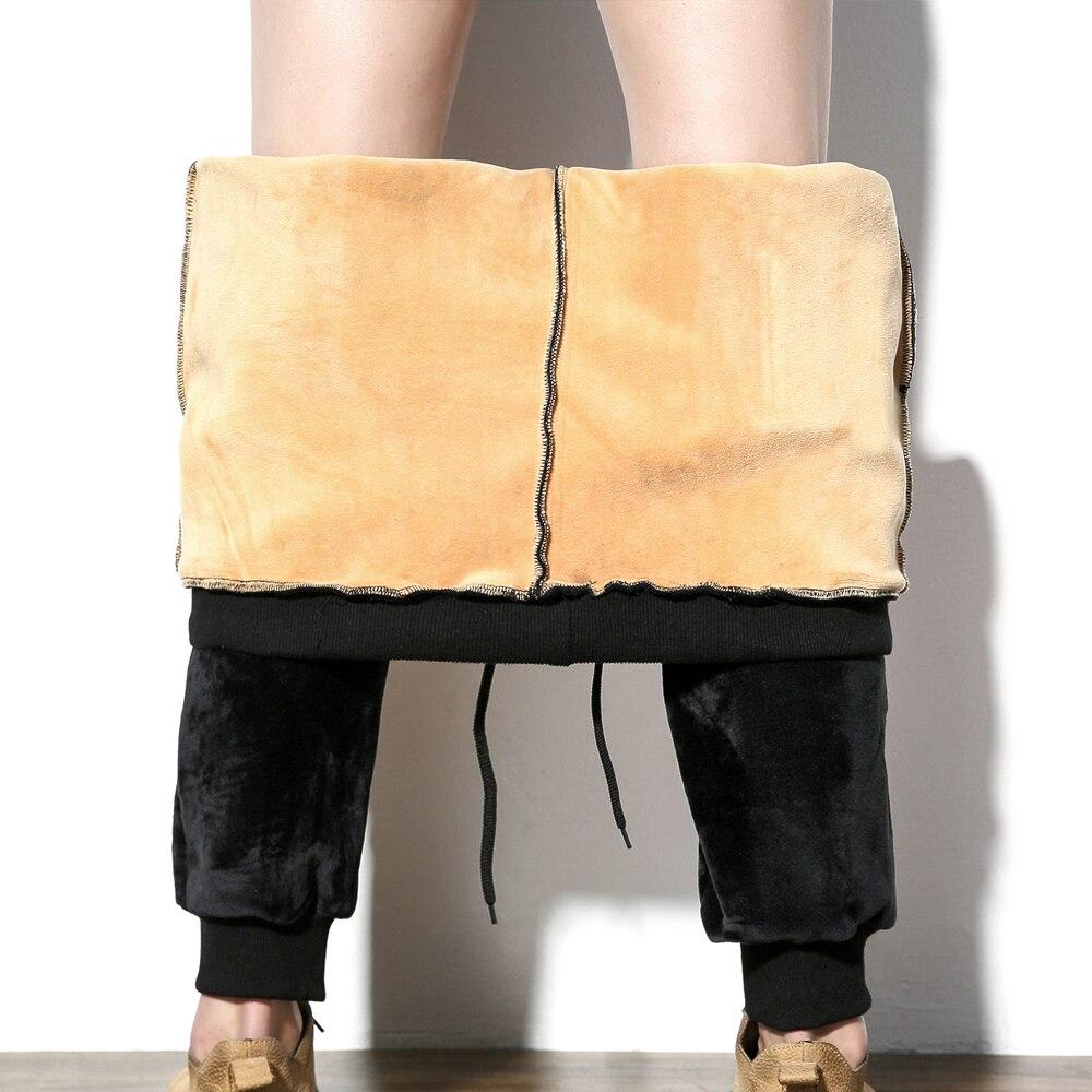 2017 Fleece Warm Jogger Pants black Men Gold Velvet Harem pants Women Winter Thick Sportwear Male Sweatpants Trousers M -5XL