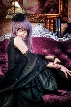 Anime tokio Ghoul Rize Kamishiro cos vestido negro clásico Cosplay traje de Halloween para mujeres