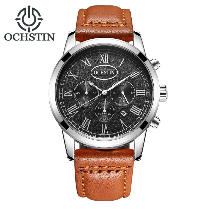2017 OCHSTIN Brand Analog Quartz Watch Men Waterproof Fashion Casual Sports Watches Man Leather Wristwatches Relogio Masculino 2017 new top fashion time limited relogio masculino mans watches sale sport watch blacl waterproof case quartz man wristwatches