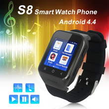 """GPS ZGPAX S8 3กรัมAndroid 4.4สมาร์ทนาฬิกาโทรศัพท์Smartwatch MTK6572 Dual Core 1.54 """"หน้าจอ512เมตร4กิกะไบต์Wifiบลูทูธ4.0 WCDMA GSM"""