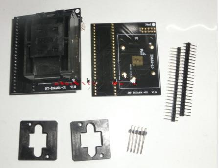 BGA64 Special EMMC Adapter For RT809H Programmer RT BGA64 01 Socket 1 0mm spacing frame 11