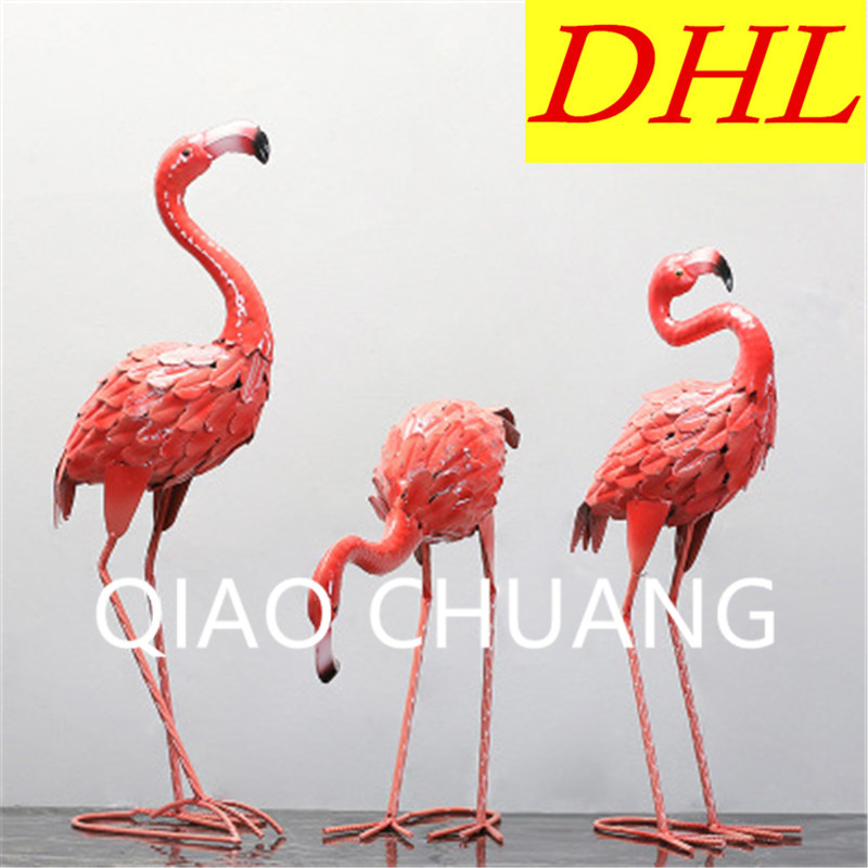 Creative Steel Art Simulation Animal Flamingo Garden Balcony Decoration Home Furnishing Articles G1045 shadow projection lamp creative 201 essential button type stainless steel led home furnishing decoration