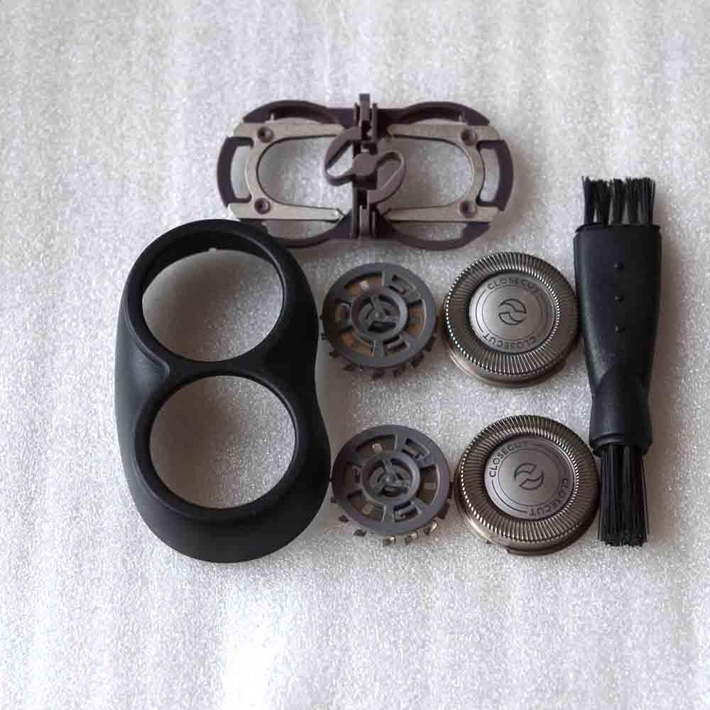 Cabeça de Substituição de Barbear para Homens Substituição + Placa + Suporte para Philips Barbeador Pq208 Hq382 Hq384 Hq386 Hq30 Pq202 Hq46 Pq205 Pq206