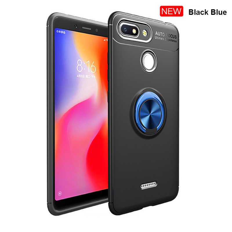 Fusion Type Rotating Finger Ring Holder Case Xiaomi Redmi 6 Pro 6 Redmi 6A  6 A Business Back Cover Silicone Case Xiaomi Redmi 6A
