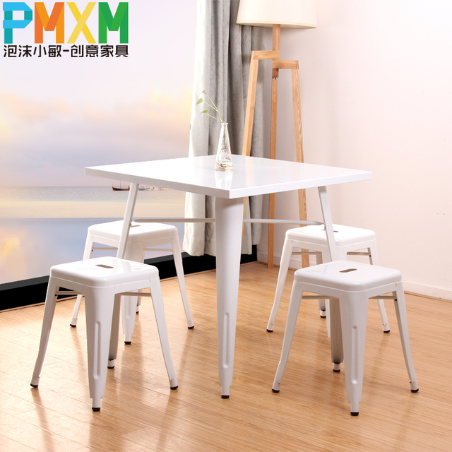 Marvelous Us 2800 0 Metal Table Bar Tables Square Dinette Combination Of European Simple Dining Tables Metal Bar Stool Package In Dining Chairs From Furniture Gmtry Best Dining Table And Chair Ideas Images Gmtryco