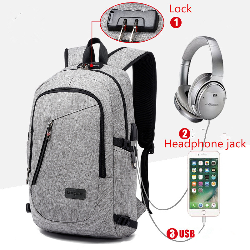 Business 15 16 inch Laptop Men Backpacks Anti Theft Notebook College School Travel Shoulder BagsWith USB Charging Port External