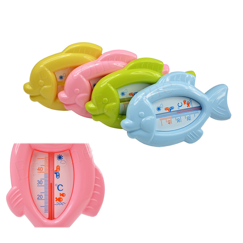 1Pc Baby Safety Bath Tub Water Sensor Thermometer Floating Fish Plastic Float Toy Infant Babe health care #046