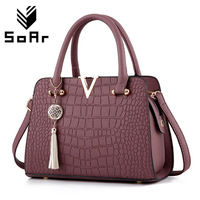 Crocodile Pattern Women Bag Handbags Women Messenger Bags Crossbody Shoulder Bags Ladies Tassel Women Leather Handbags