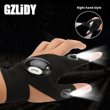 Novelty LED Flashlight LED Glove light Finger light Battery included Used for night fishing, camping, repairs,Adventure,etc.