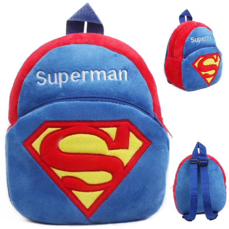 59cf382437 Kindergarten boys girls Superman school bags children soft plush cartoon  backpack baby cute mini candy bags toy