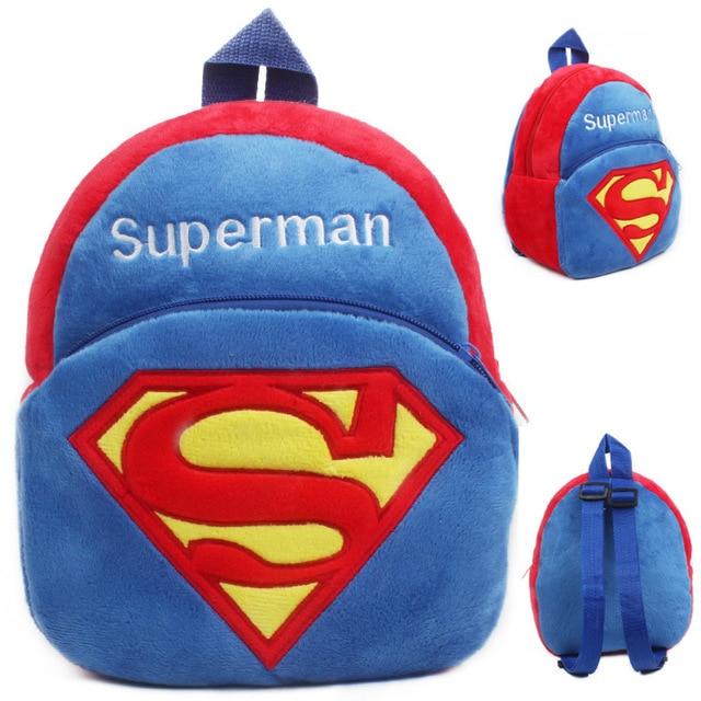 Kindergarten boys girls Superman school bags children soft plush cartoon backpack  baby cute mini candy bags toy 6a545ba41a944