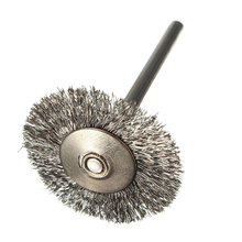 10 pcs Stainless Steel Wire Brushes Disc Brush Round Brush 25mm Diameter for Dremel cargo printed for steel disc perfectequipment 8150 0201 501 weight 20g 100 pcs