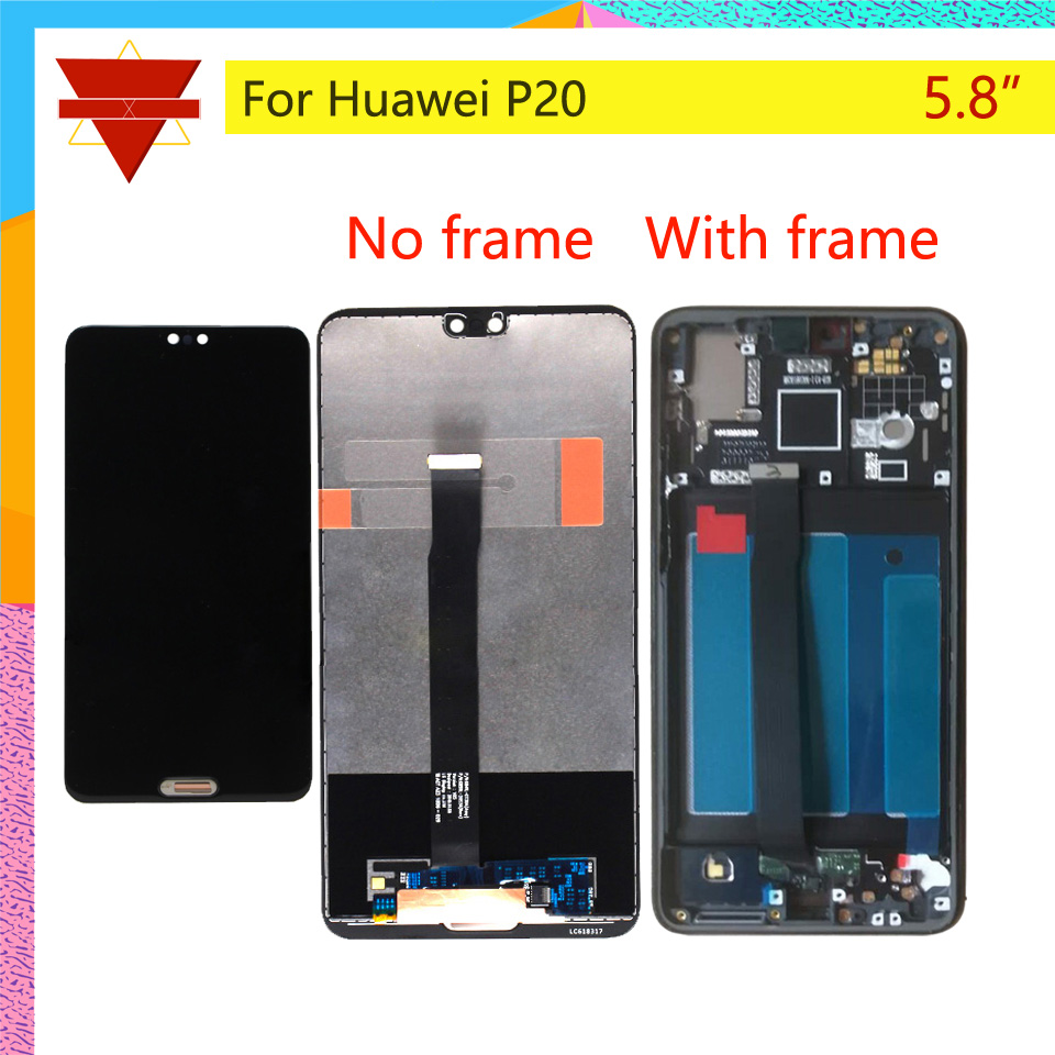 10pcs lot Original 5 8 For Huawei P20 LCD Display Touch Screen Digitizer LCD With Frame