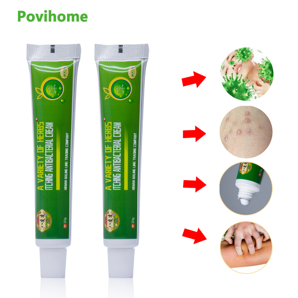 1Pcs Anti-itch Cream Pain Removal Eczema Psoriasis Ointment Dermatitis Chinese Herbal Medical Plaster Health Care P1006 image