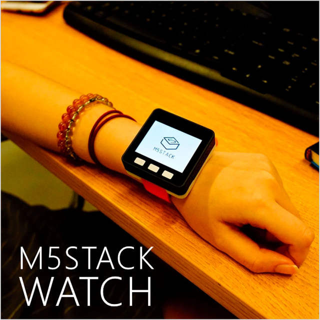 US $10 7 |M5Stack Multi function Watch! With ESP32 and 850mAh Battery for  Arduino & Micropython Intelligent Programmable Watch with Band-in Demo  Board