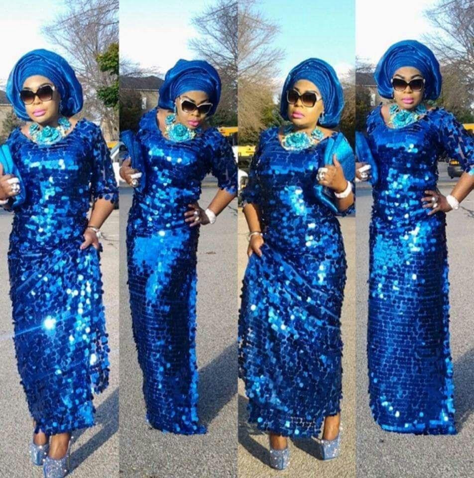 7a18c03f3a ⑦Novo azul Royal lantejoulas renda líquida Francês Nigeriano